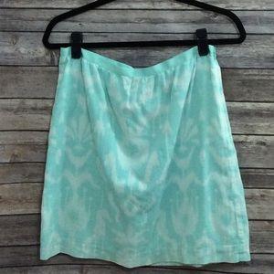 Vineyard Vines green abstract floral print skirt 6